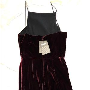 Reformation velvet dress with tags in burgundy